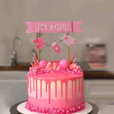 کیک جشن سیسمونی دخترانه